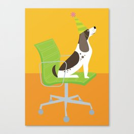Dog on an Eames Chair for Handsome Devil Press Canvas Print