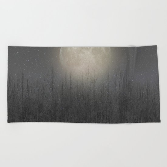 The Moon Shines Bright (Birch Moon II) Beach Towel