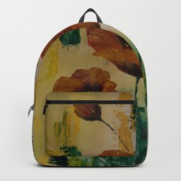 Poppies With a Touch of Gold Backpack
