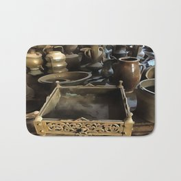 Handcrafted Tin And Copper Kitchenwares Bath Mat