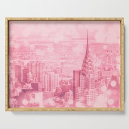 Pink and Bubbly New York City Serving Tray