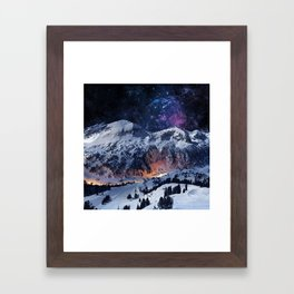Mountain CALM IN space view Framed Art Print