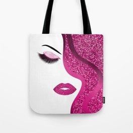 glittery woman Tote Bag