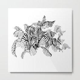 Fern Floor :: Single Line Metal Print