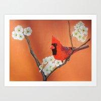 Rita's Redbird  Art Print