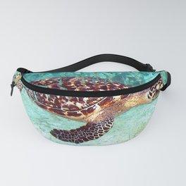 Watercolor Hawksbill Turtle Fanny Pack