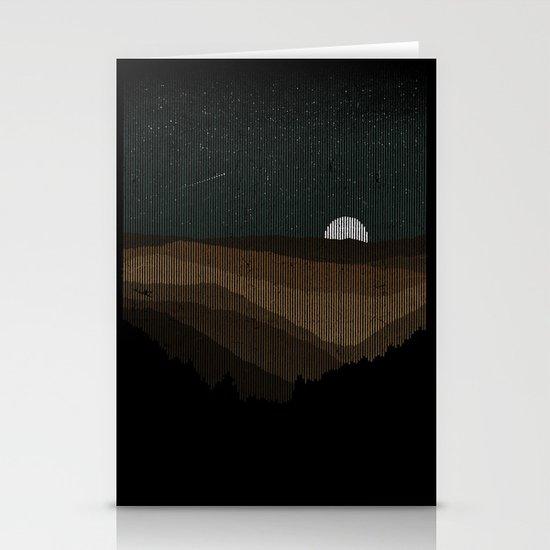 Moonrise (Sepia) Stationery Cards