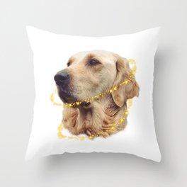 Angelic Doggo Throw Pillow