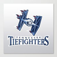 nfl Canvas Prints featuring Tennessee Tie Fighters - NFL by Steven Klock