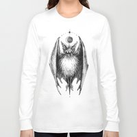 bat Long Sleeve T-shirts featuring Bat by Ulla Thynell