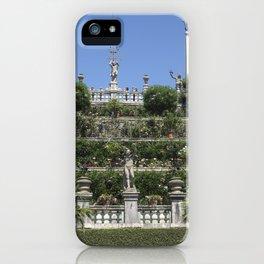 Gardens of Borromeo Palace on Isola Bella, Stresa,Italy. iPhone Case