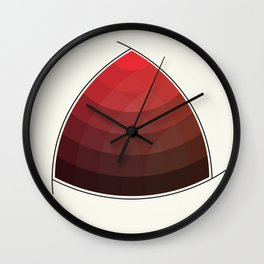 Le Rouge-Orangé (ses diverses nuances combinées avec le noir) Remake (Interpretation), no text Wall Clock