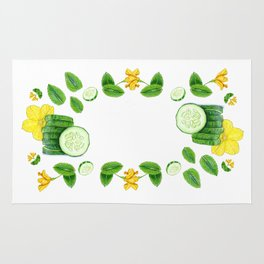 Cucumber and Mint Rug