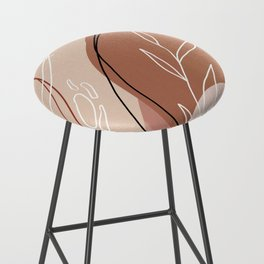 Abstract Peach Bar Stool