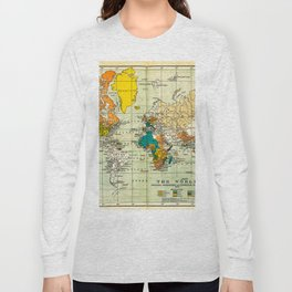 Map of the old world Long Sleeve T-shirt