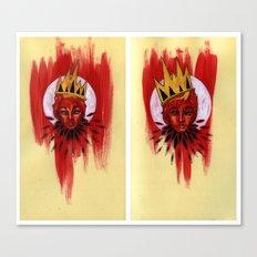 Red Portrait Diptych Canvas Print