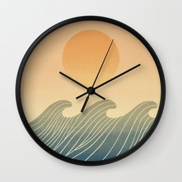 Great wave 5 Abstraction ocean sunset Wall Clock
