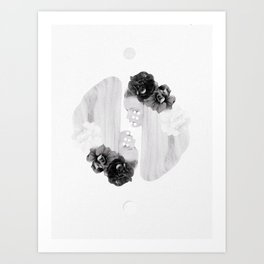 selene and eos (black and white) Art Print