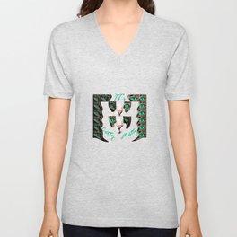 Catty Matty Sweet Eyes T-shirt 2018 Unisex V-Neck