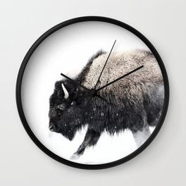 Prancing Buffalo Wall Clock