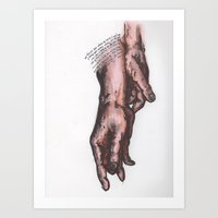 Hands of Redemption Art Print
