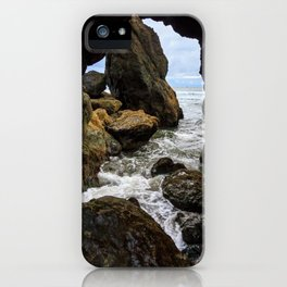 Ruby Beach Sea Cave iPhone Case