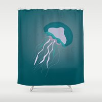 jellyfish Shower Curtains featuring Jellyfish by Bwiselizzy