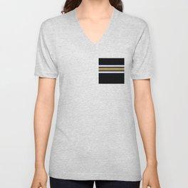 Team Colors...navy,gold,white,black Unisex V-Neck