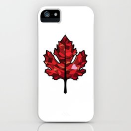 A Maple Leaf with Heart iPhone Case