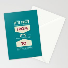 Godard (The quotes series) Stationery Cards