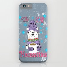 The Bear Necessities In Snow with Coffee iPhone 6s Slim Case