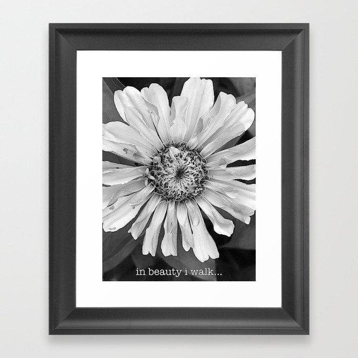 in beauty i walk... Framed Art Print