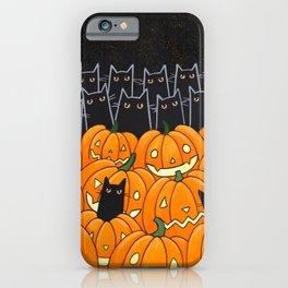 Black Cats and Jack o Lanterns iPhone Case