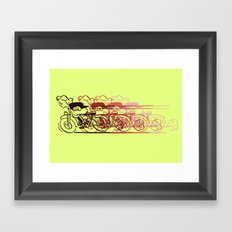 Motorcycle Rider Framed Art Print