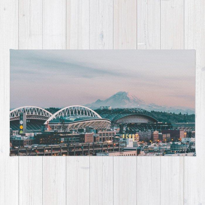 Seattle & Mount Rainier Rug