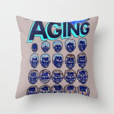 The Amazing Powers of Aging! Throw Pillow