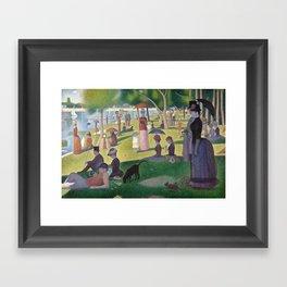 Georges Seurat - A Sunday Afternoon on the Island of La Grande Jatte Framed Art Print