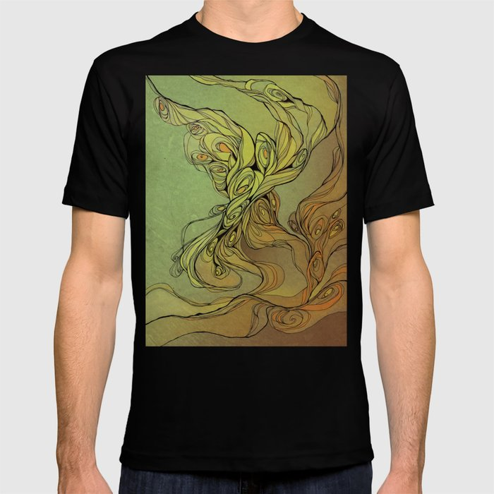 abstract floral composition T-shirt