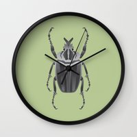 beetle Wall Clocks featuring Beetle by Aaron Keshen