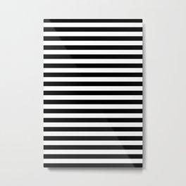 Classic Stripe Pattern Metal Print
