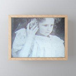 Girl with Shell Framed Mini Art Print