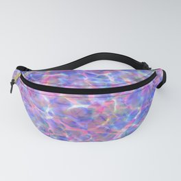 Abstract girly pink blue watercolor hand painted marble Fanny Pack
