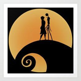 Jack & Sally Art Print