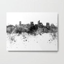 Wichita skyline in black watercolor Metal Print