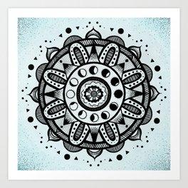 Moon Phases Mandala Art Print