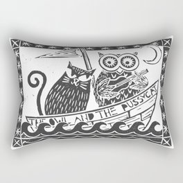 The Owl And The Pussycat (white background) Rectangular Pillow