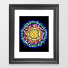 Carnival Mandala Framed Art Print