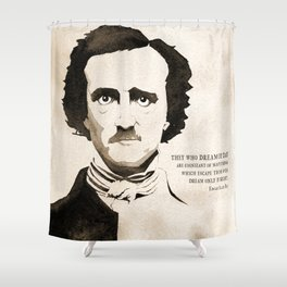 Poe Dream by Day Shower Curtain