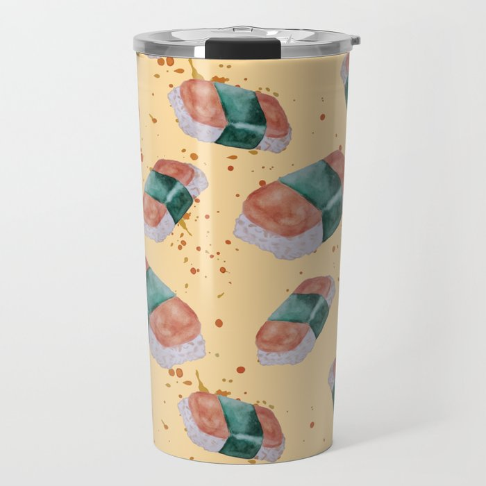 Spam Musubi Pattern Travel Mug