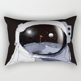 Astronaut Golf Course on the Moon Rectangular Pillow